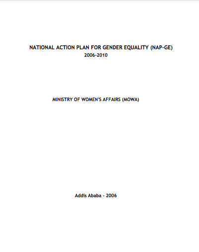 Ethiopia National Gender Equality Plan