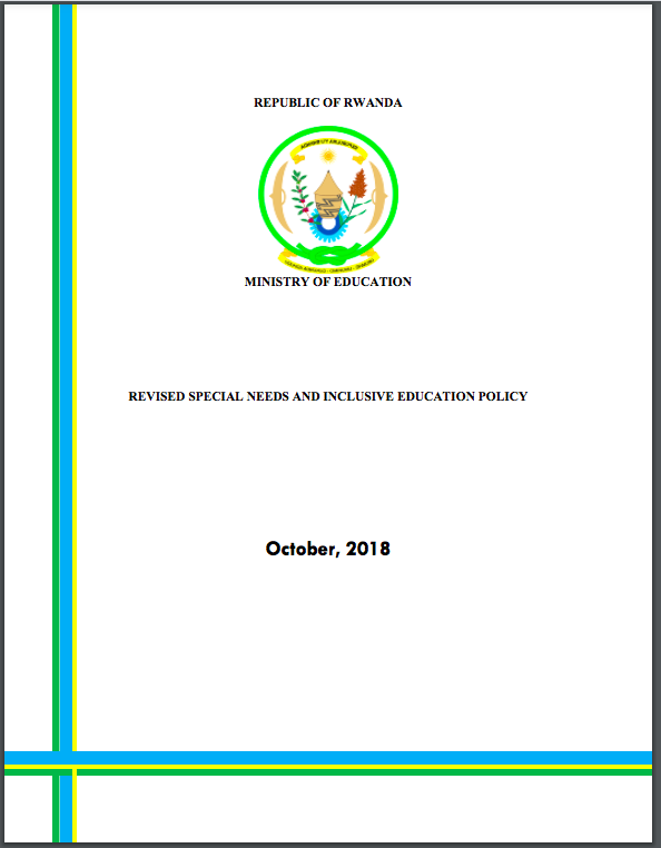 Rwanda Special Needs and Inclusive Education Policy