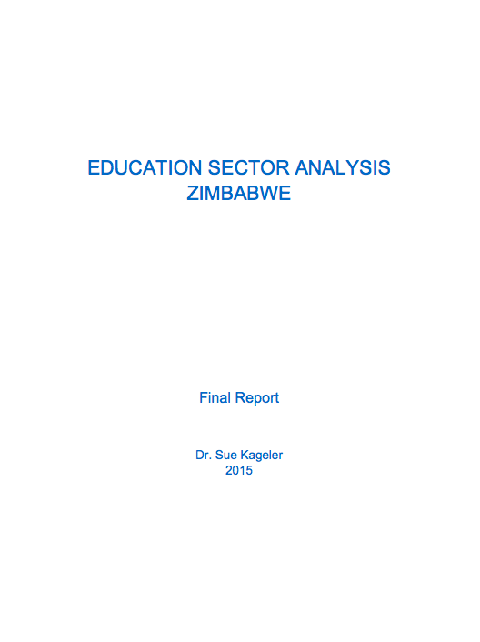 Zimbabwe Education Sector Analysis