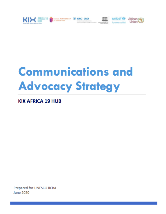 Communications and Advocacy Strategy